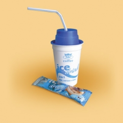 3 in 1. Cold drink - ice coffee with a shaker. 18 g, 12 pcs in a parcel